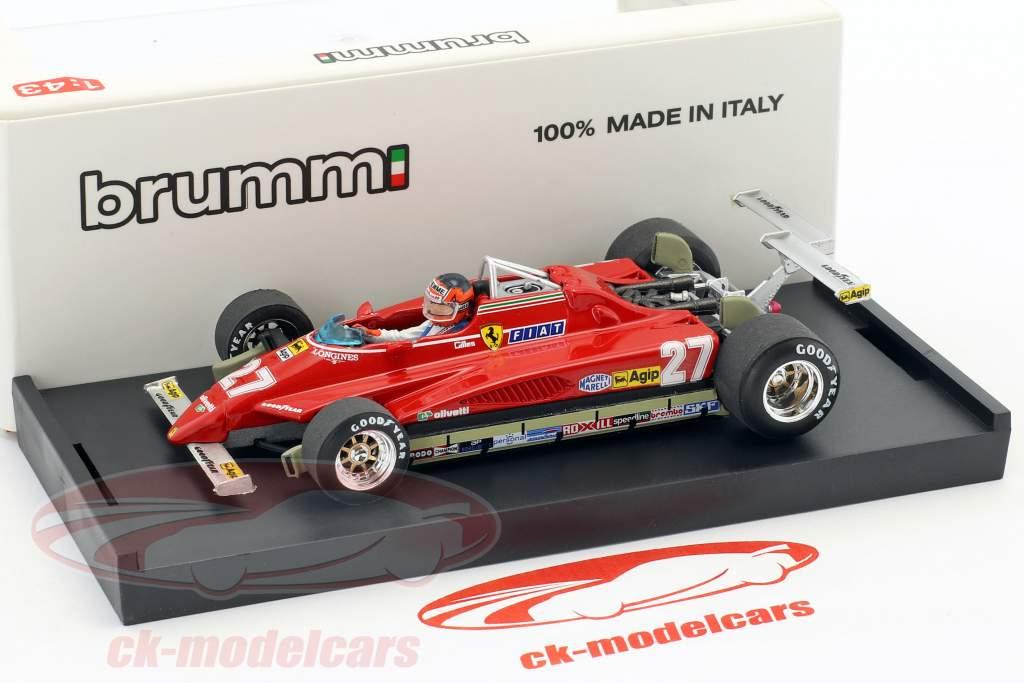 Gilles Villeneuve Ferrari 126C2 #27 EE.UU. GP Long Beach fórmula 1 1982 1:43 Brumm