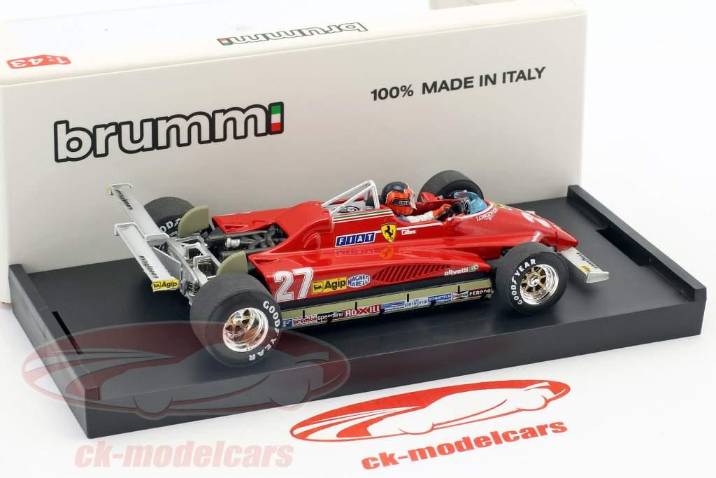 Gilles Villeneuve Ferrari 126C2 #27 VS GP Long Beach formule 1 1982 1:43 Brumm