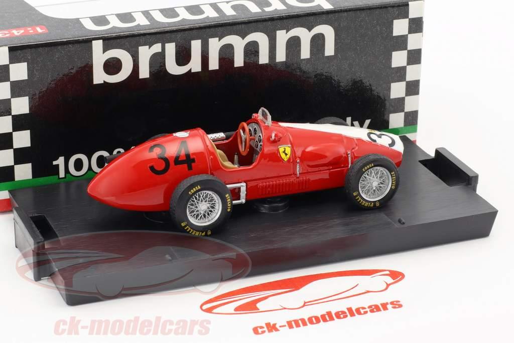 Kurt Adolff Ferrari 500 F2 #34 Tyskland GP Nürburgring formel 1 1953 1:43 Brumm