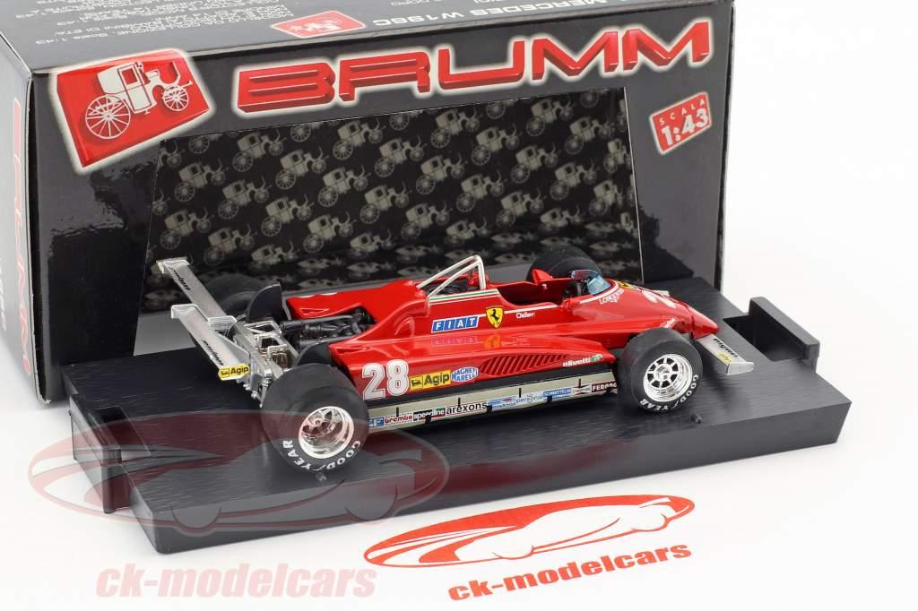 Didier Pironi Ferrari 126C2 #28 vincitore Stati Uniti d'America GP Long Beach formula 1 1982 1:43 Brumm
