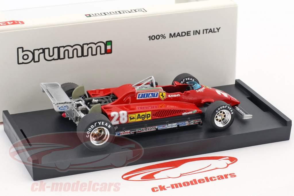 Mario Andretti Ferrari 126C2 #28 3rd italian GP formula 1 1982 1:43 Brumm