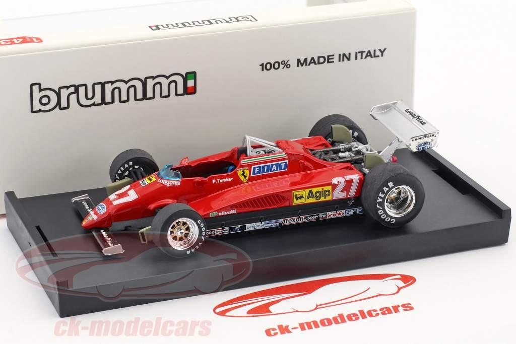 Patrick Tambay Ferrari 126C2 #27 2 ° italiano GP formula 1 1982 1:43 Brumm