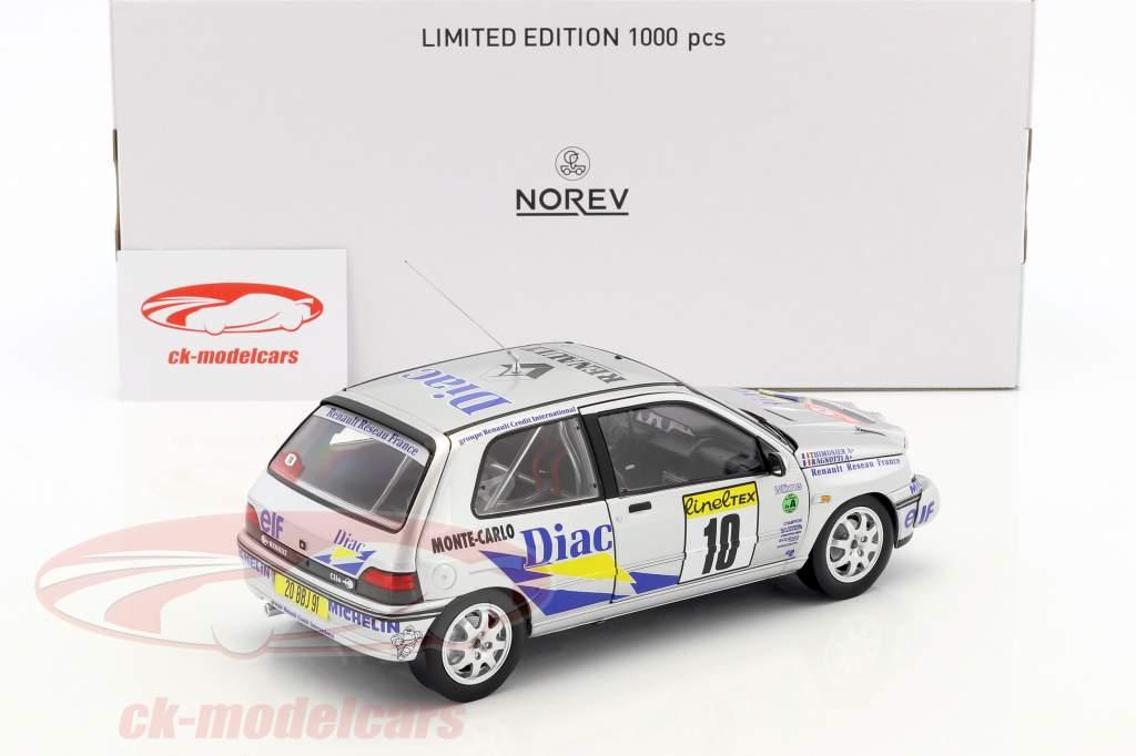 Renault Clio Williams #10 Rallye Monte Carlo 1994 Ragnotti, Thimonier 1:18 Norev