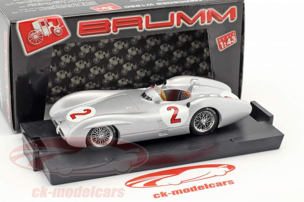 Karl Kling Mercedes W196C #2 británico GP fórmula 1 1954 1:43 Brumm