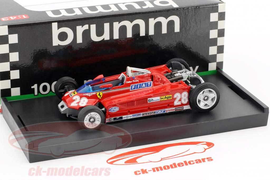 Didier Pironi Ferrari 162CK #28 4th Monaco GP Formel 1 1981 Transport-Version 1:43 Brumm