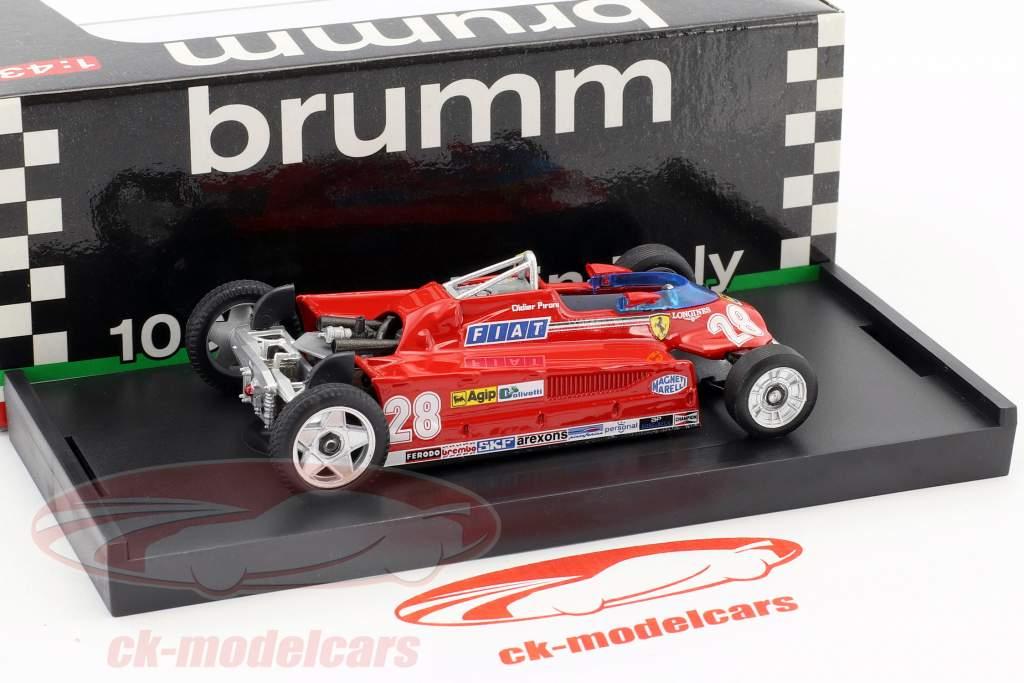 Didier Pironi Ferrari 162CK #28 4e Monaco GP formule 1 1981 transport versie 1:43 Brumm