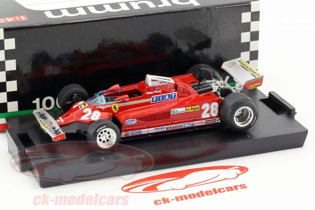 Didier Pironi Ferrari 126CK #28 italian GP formula 1 1981 1:43 Brumm