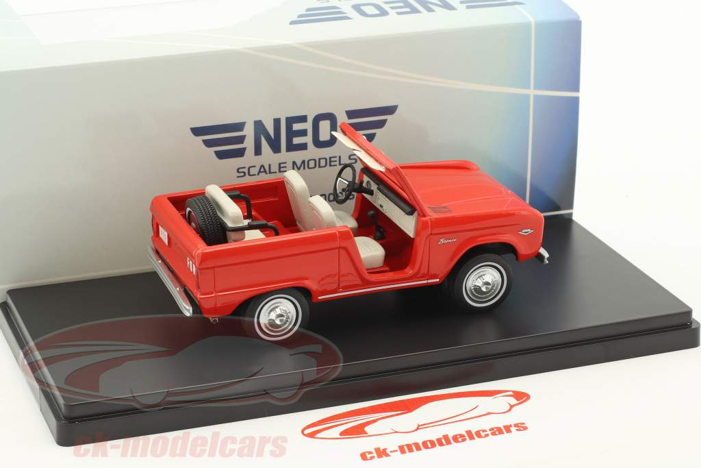 Ford Bronco roadster année de construction 1967 rouge 1:43 Neo