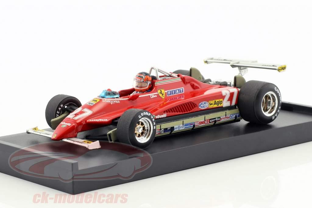 Gilles Villeneuve Ferrari 126C2 #27 EUA GP Long Beach fórmula 1 1982 1:43 Brumm