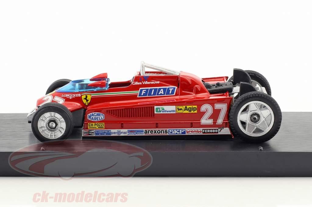 Gilles Villeneuve Ferrari 126CK #27 Winner monaco GP formula 1 1981 Transport version 1:43 Brumm