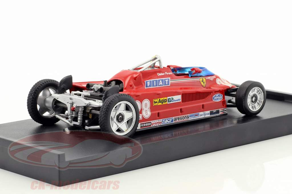 Didier Pironi Ferrari 162CK #28 cuarto Mónaco GP fórmula 1 1981 versión de transporte 1:43 Brumm