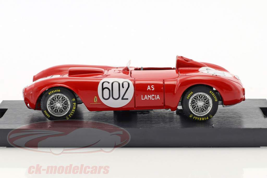 Lancia D24 #602 winnaar Mille Miglia 1954 Alberto Ascari 1:43 Brumm