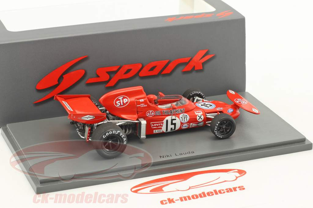 Niki Lauda March 721 #15 Argentine GP formule 1 1972 1:43 Spark