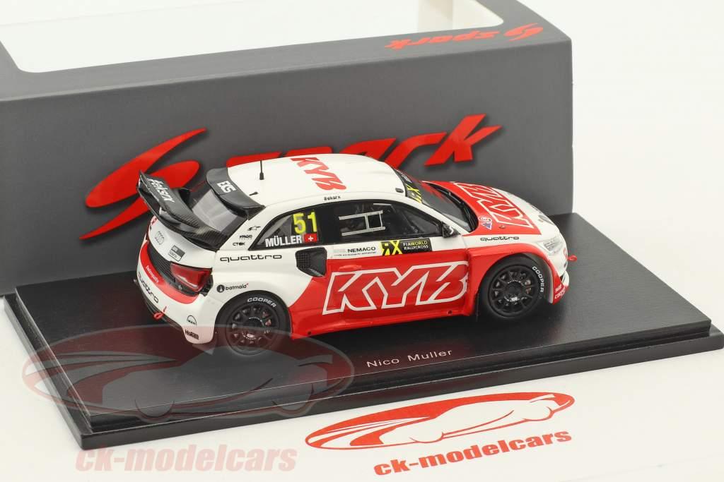 Audi S1 EKS RX #51 World RX de France 2017 N. Müller 1:43 Spark