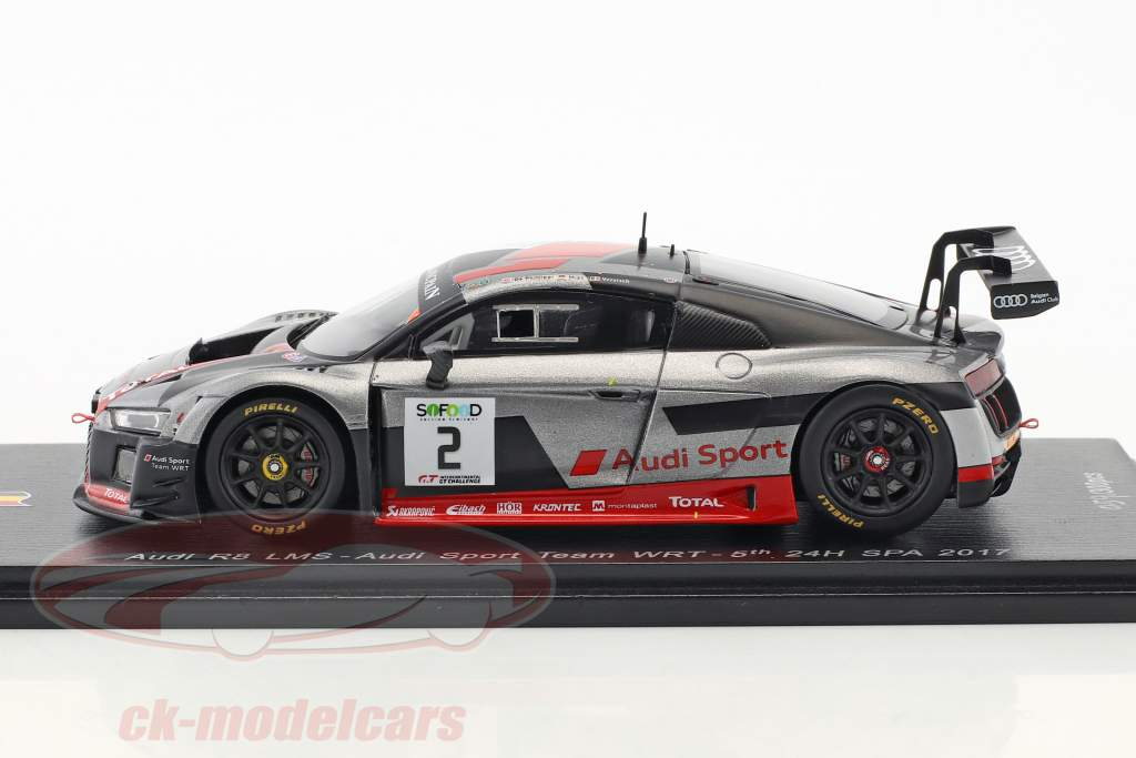 Audi R8 LMS #2 5th 24h Spa 2017 Audi Sport Team WRT 1:43 Spark