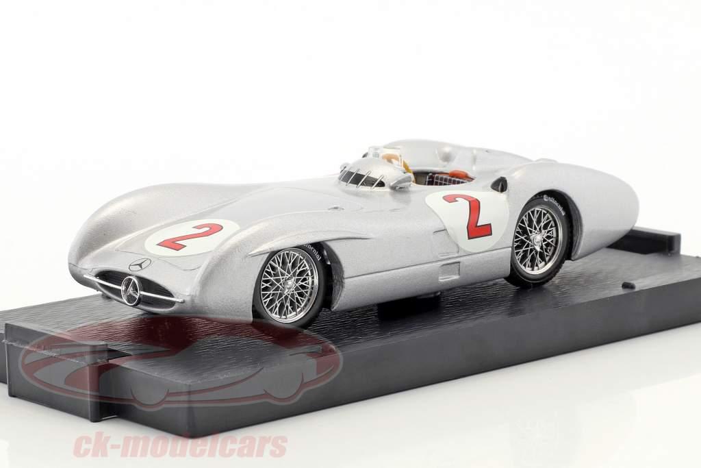 Karl Kling Mercedes W196C #2 britânico GP fórmula 1 1954 1:43 Brumm