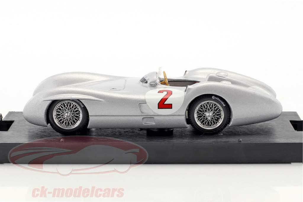 Karl Kling Mercedes W196C #2 Brits GP formule 1 1954 1:43 Brumm
