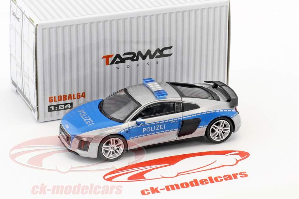Audi R8 V10 Plus polizia 1:64 Tarmac Works