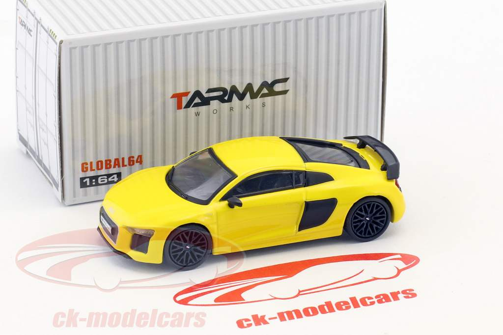 Audi R8 V10 Plus Vegas jaune 1:64 Tarmac Works