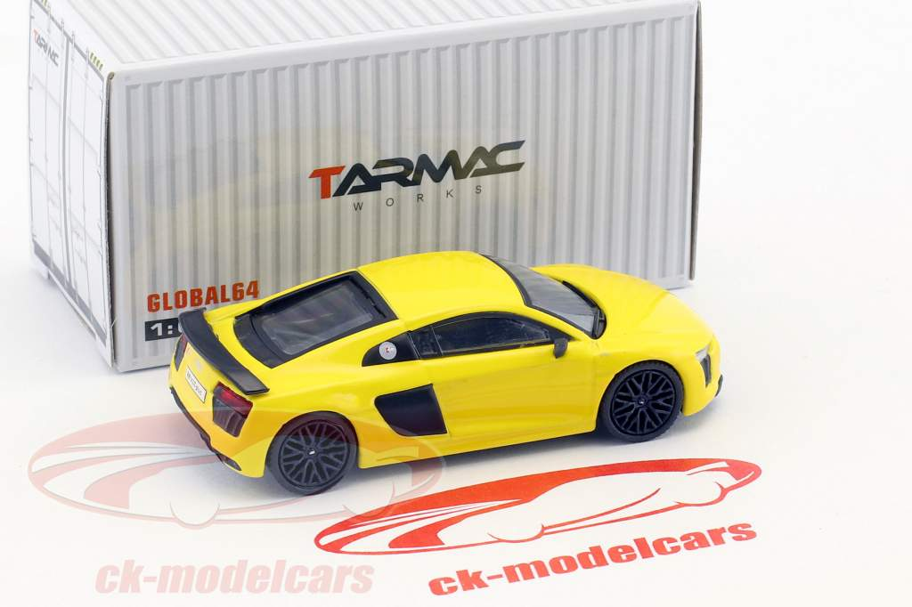 Audi R8 V10 Plus Vegas giallo 1:64 Tarmac Works