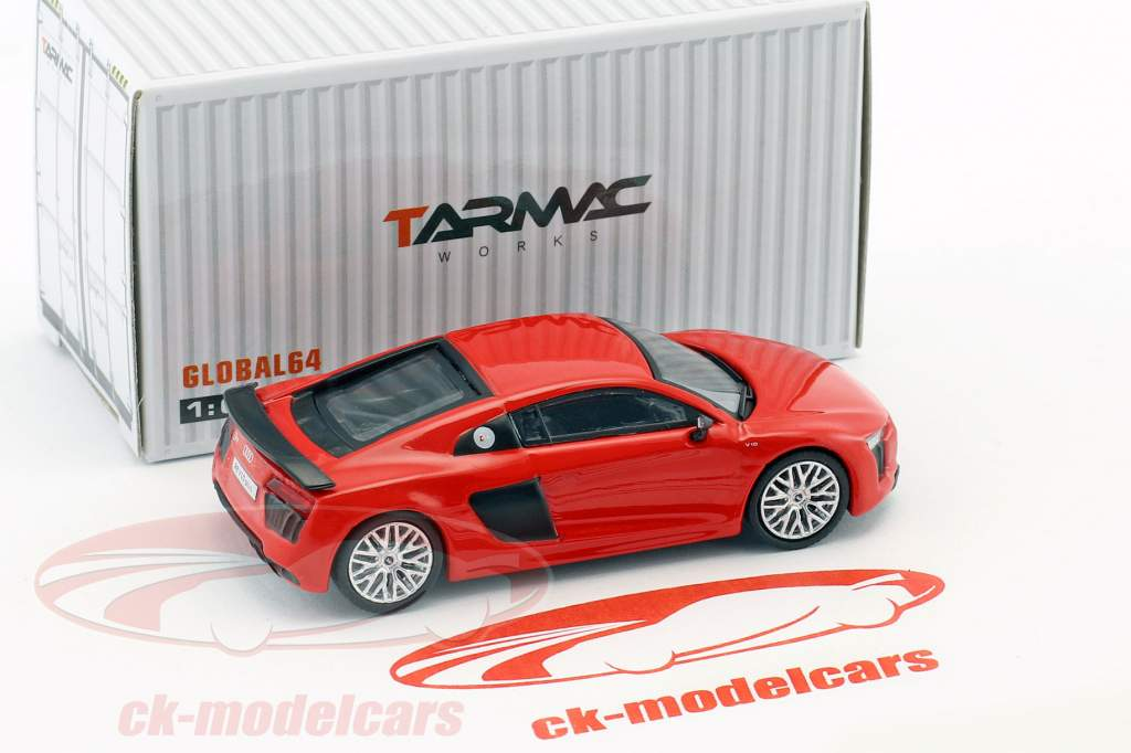 Audi R8 V10 Plus dynamite red 1:64 Tarmac Works