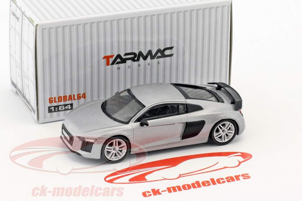 Audi R8 V10 Plus matt silber 1:64 Tarmac Works