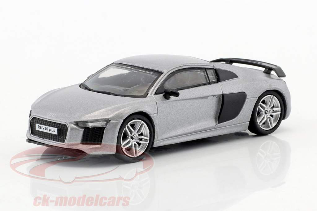Audi R8 V10 Plus opaco argento 1:64 Tarmac Works
