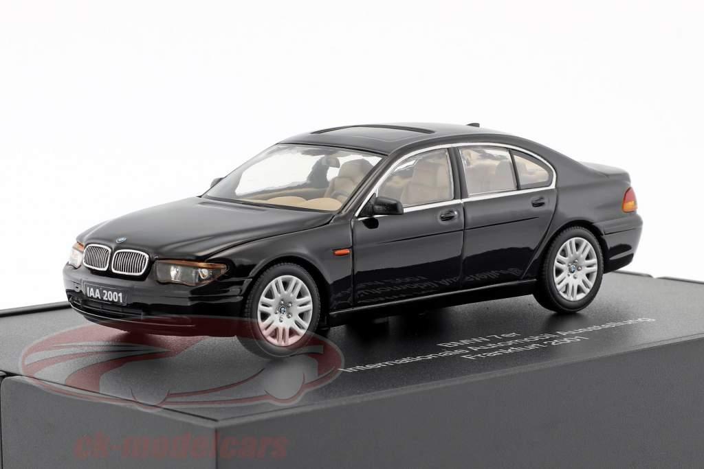 BMW 7er IAA Frankfurt 2001 nero 1:43 Minichamps