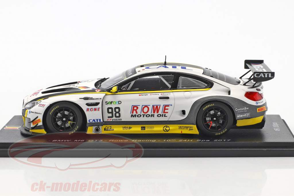 BMW M6 GT3 #98 10 ° 24h Spa 2017 Rowe Racing 1:43 Spark