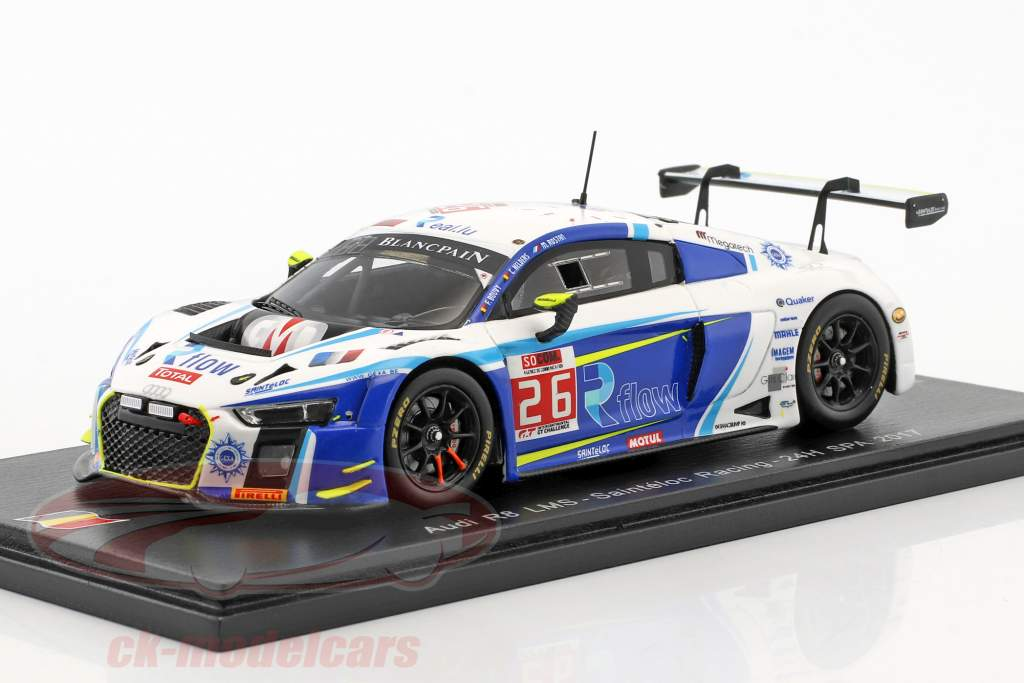 Audi R8 LMS #26 24h Spa 2017 Sainteloc Racing 1:43 Spark