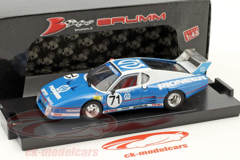 Ferrari 512 BB LM #71 9 24h LeMans 1982 Ballot-Lena, Andruet, Regout 1:43 Brumm