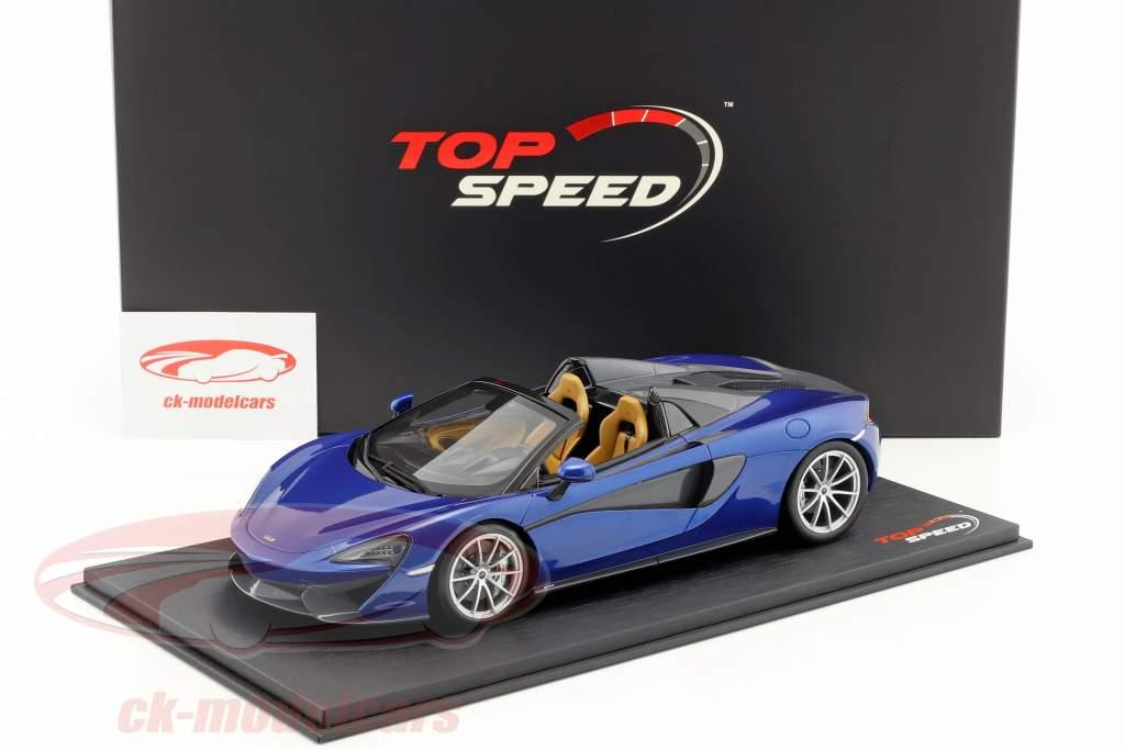 McLaren 570S Spider Antares blu 1:18 TrueScale