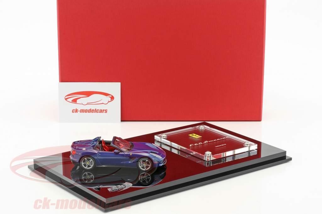 Ferrari F60 America year 2014 dark blue with showcase 1:43 BBR