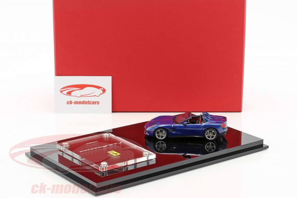 Ferrari F60 America année de construction 2014 bleu foncé avec vitrine 1:43 BBR