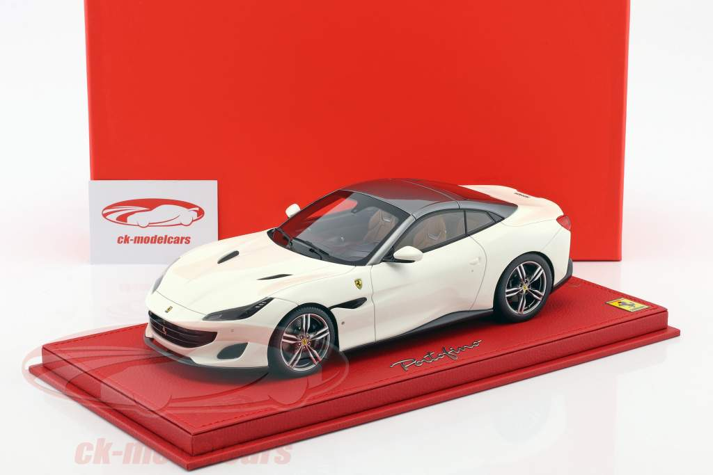 Ferrari Portofino weiß / grau 1:18 BBR