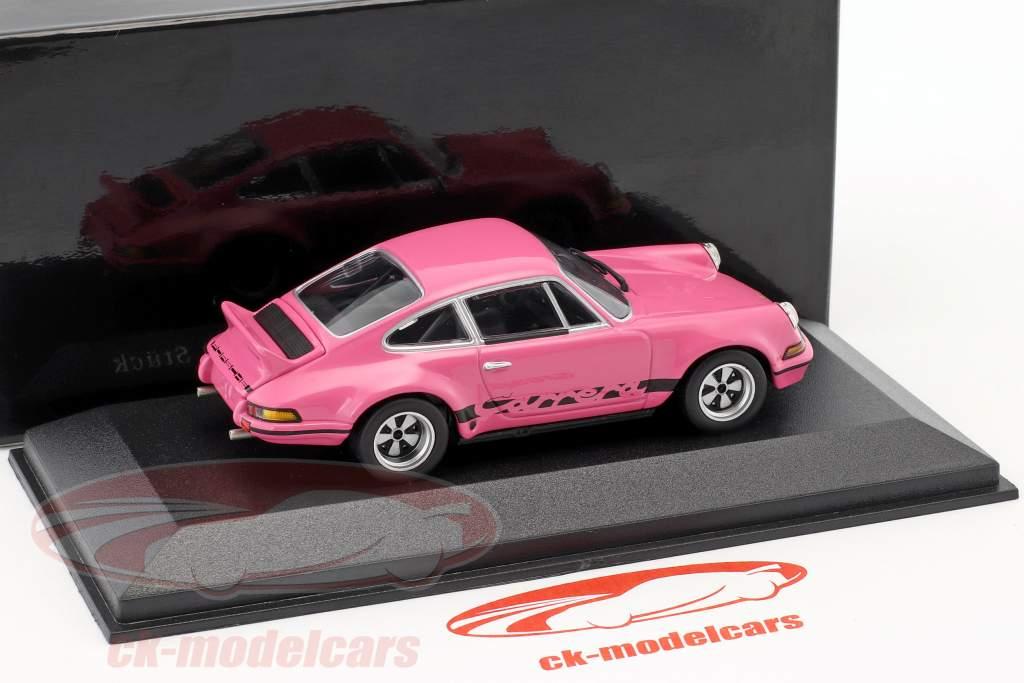 Porsche 911 Carrera RSR 2.8 édition spéciale Modell Fahrzeug rose 1:43 Minichamps