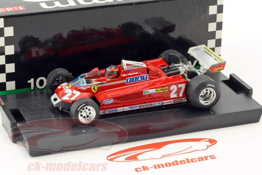 Gilles Villeneuve Ferrari 162CK #27 3rd Kanada GP Formel 1 1981 Runde 57-63 1:43 Brumm