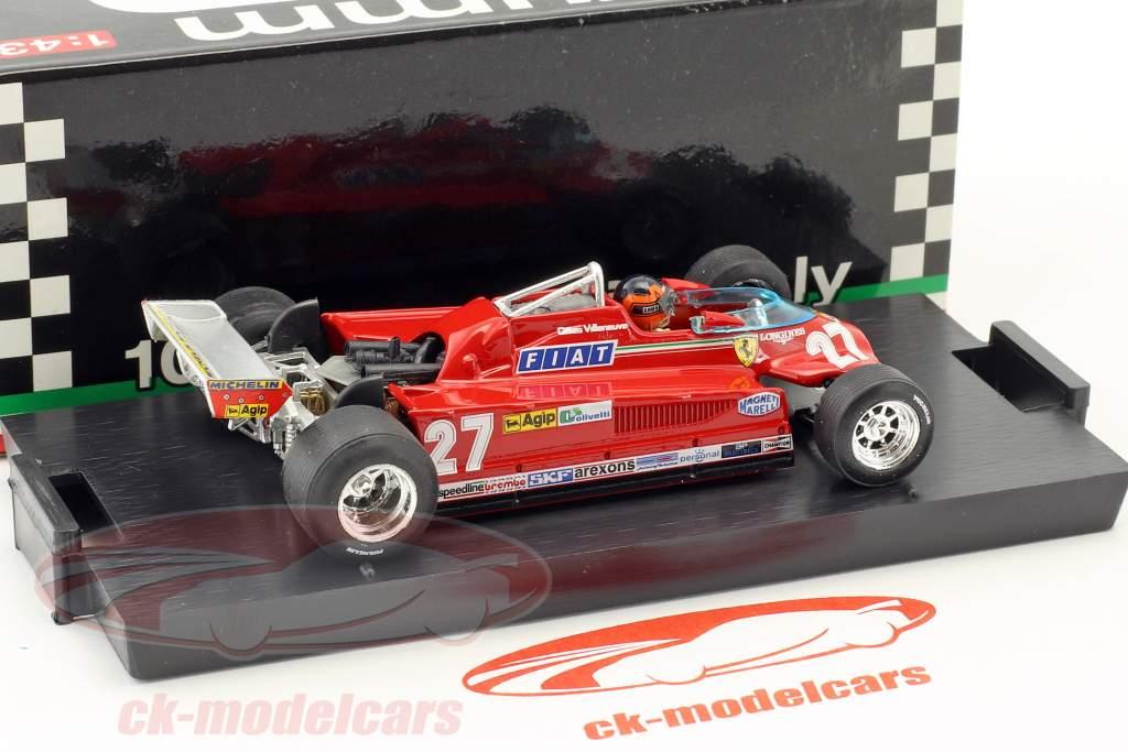 Gilles Villeneuve Ferrari 126CK #27 tercero Canadá GP fórmula 1 1981 ronda 57-63 1:43 Brumm