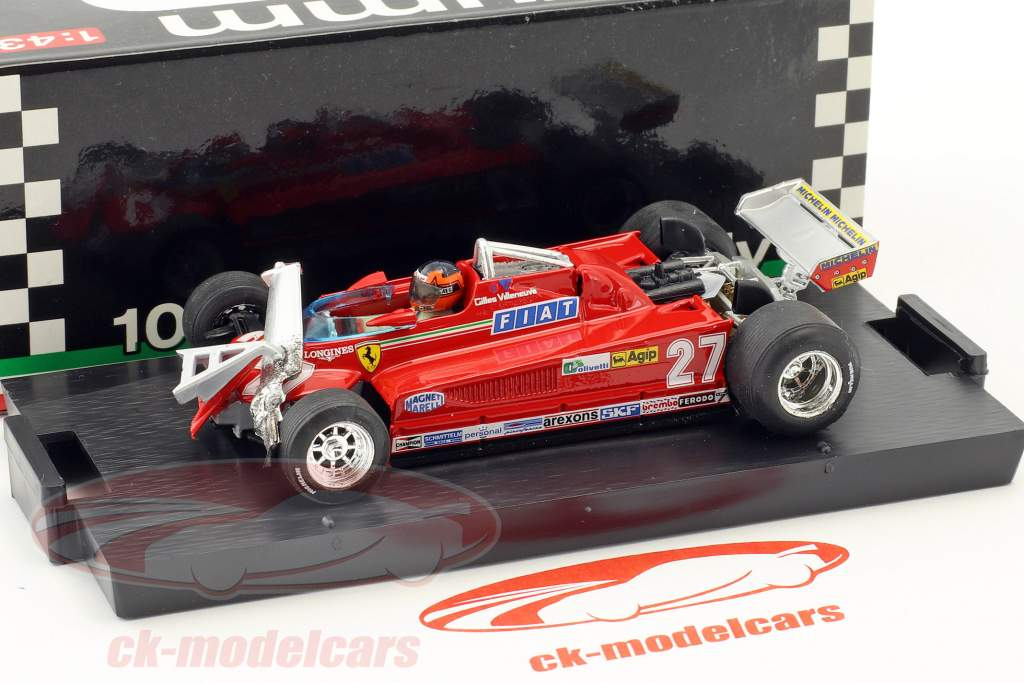Gilles Villeneuve Ferrari 126CK #27 3e Canada GP formule 1 1981 rondje 55-56 1:43 Brumm