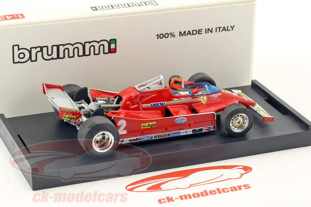 Gilles Villeneuve Ferrari 126C Turbo #2 prova italiano GP formula 1 1980 1:43 Brumm