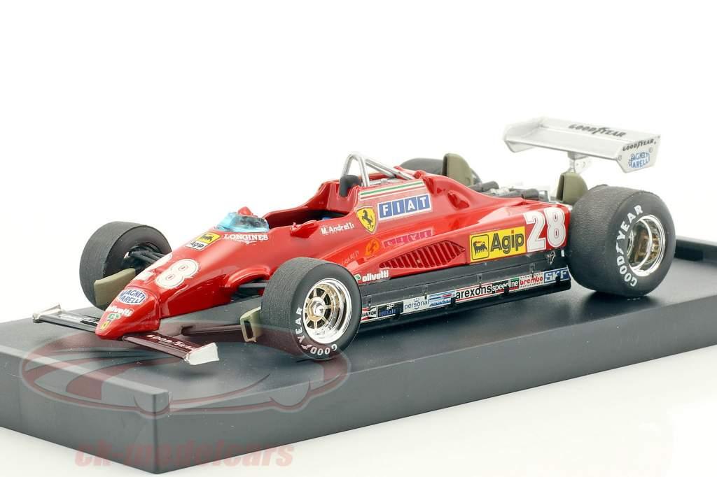 Mario Andretti Ferrari 126C2 #28 3 italien GP formule 1 1982 1:43 Brumm