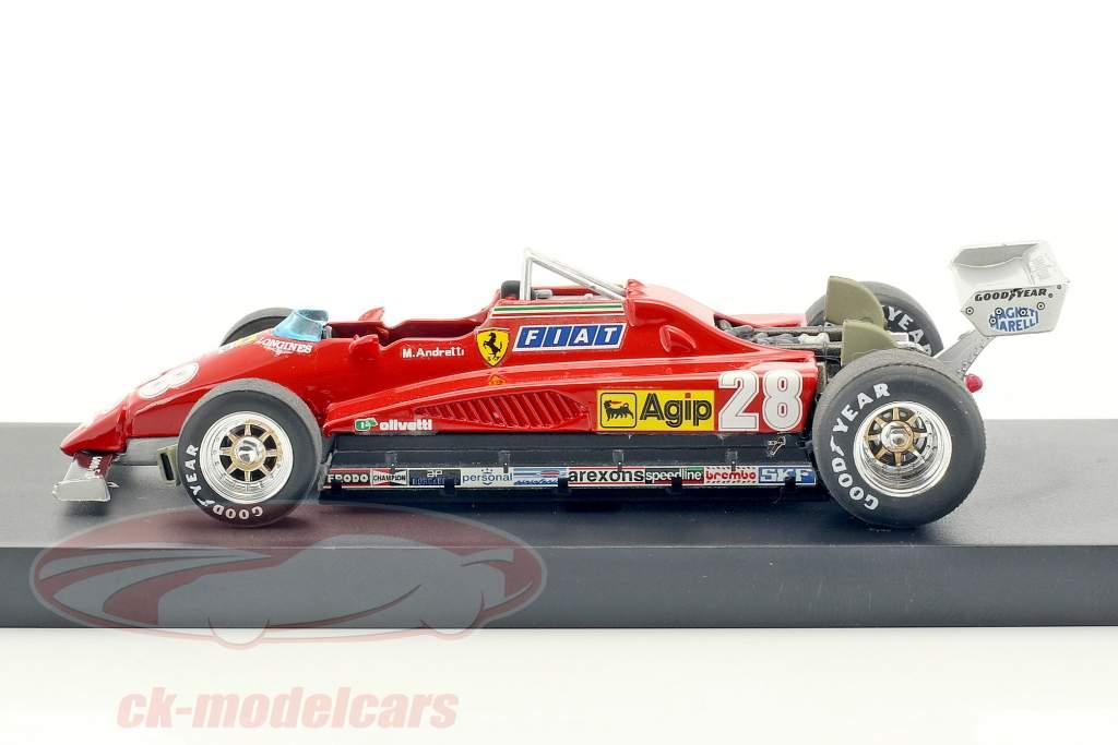 Mario Andretti Ferrari 126C2 #28 tercero italiano GP fórmula 1 1982 1:43 Brumm