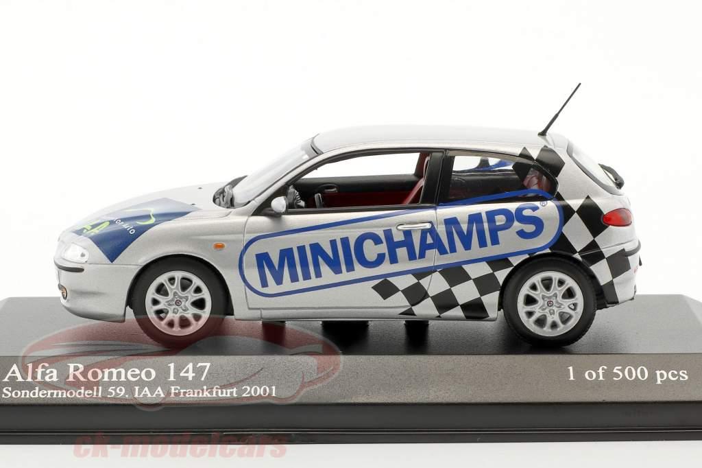 Alfa Romeo 147 Sondermodell 59. IAA Frankfurt 2001 silber 1:43 Minichamps