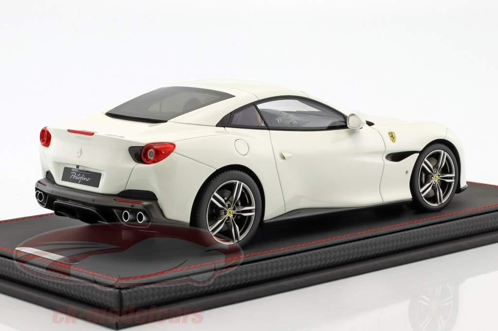 Ferrari Portofino année de construction 2017 blanc 1:18 BBR