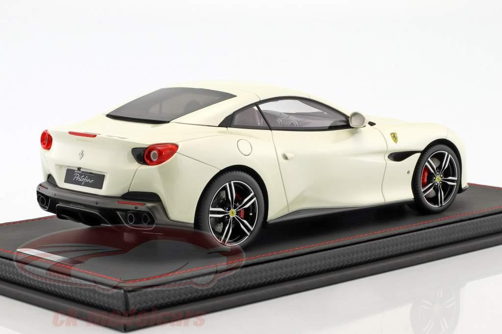 Ferrari Portofino année de construction 2017 fuji blanc 1:18 BBR