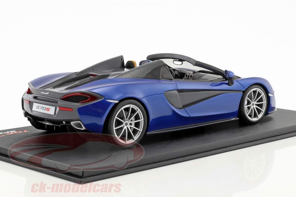 McLaren 570S Spider antares bleu 1:18 TrueScale