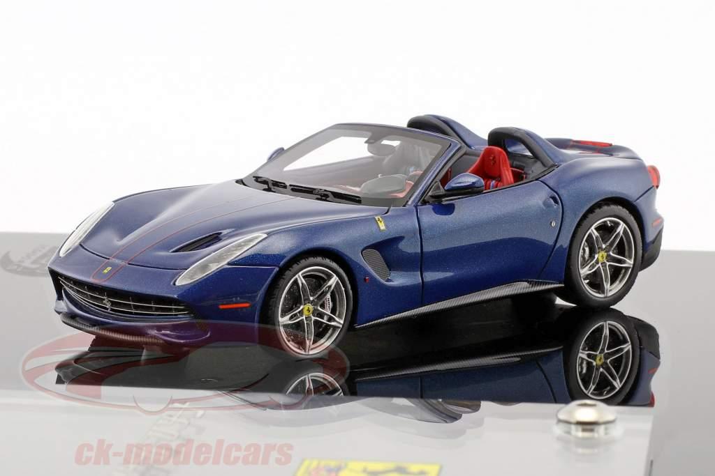 Ferrari F60 America anno di costruzione 2014 blu scuro con vetrina 1:43 BBR