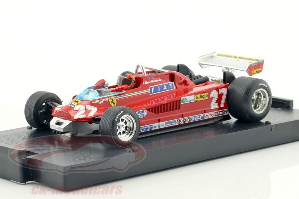 Gilles Villeneuve Ferrari 126CK #27 3e Canada GP formule 1 1981 rondje 57-63 1:43 Brumm
