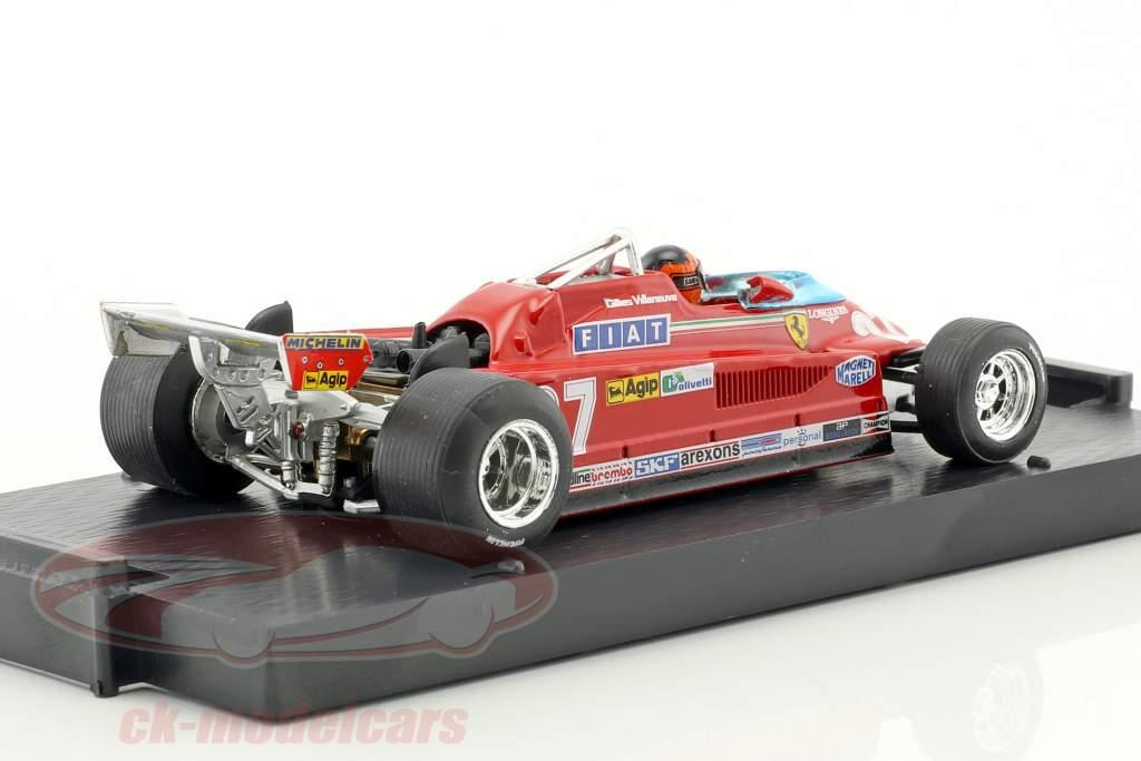 Gilles Villeneuve Ferrari 126CK #27 3ª Canadá GP fórmula 1 1981 volta 57-63 1:43 Brumm