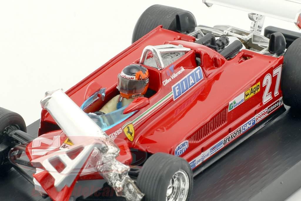 Gilles Villeneuve Ferrari 126CK #27 3ª Canadá GP fórmula 1 1981 volta 55-56 1:43 Brumm